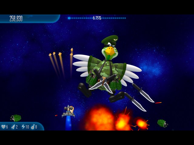 chicken invaders 5 cluck of the dark side screenshot0 Вторжение кур 5. Темный клюв
