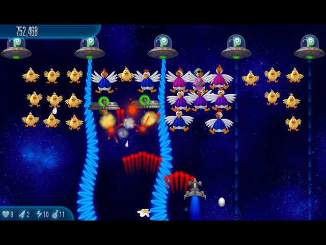 chicken invaders 5 cluck of the dark side screenshot2 Вторжение кур 5. Темный клюв