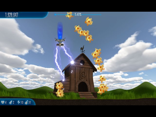 chicken invaders 5 cluck of the dark side screenshot4 Вторжение кур 5. Темный клюв