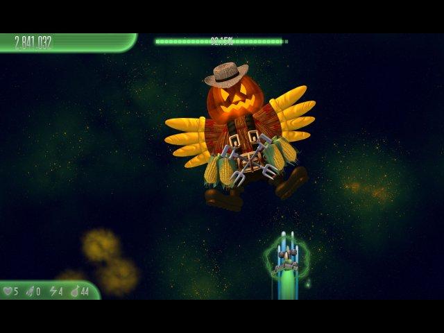 chicken invaders 5 cluck of the dark side halloween edition screenshot0 Вторжение кур 5. Темный клюв. Halloween Edition