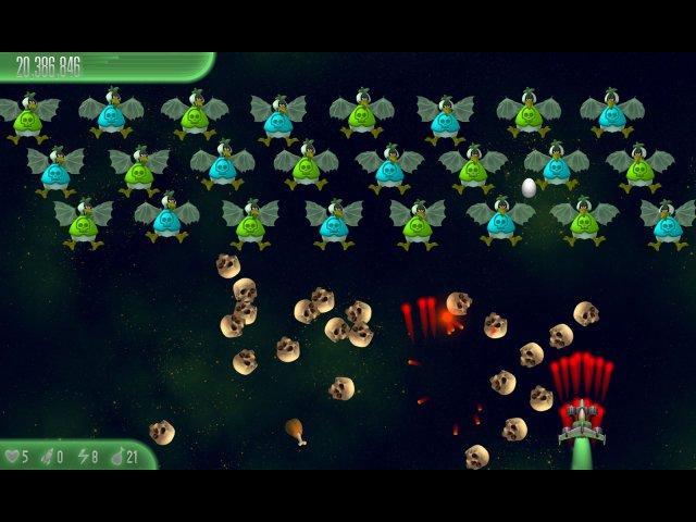 chicken invaders 5 cluck of the dark side halloween edition screenshot1 Вторжение кур 5. Темный клюв. Halloween Edition