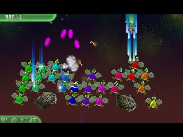 chicken invaders 5 cluck of the dark side halloween edition screenshot2 Вторжение кур 5. Темный клюв. Halloween Edition