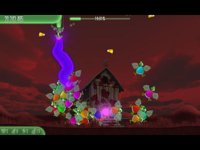 chicken invaders 5 cluck of the dark side halloween edition screenshot3 Вторжение кур 5. Темный клюв. Halloween Edition