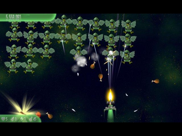 chicken invaders 5 cluck of the dark side halloween edition screenshot5 Вторжение кур 5. Темный клюв. Halloween Edition